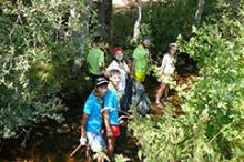 Grupo scout '513 Santa Teresa' en Lario, Parque Regional de los Picos de Urbión